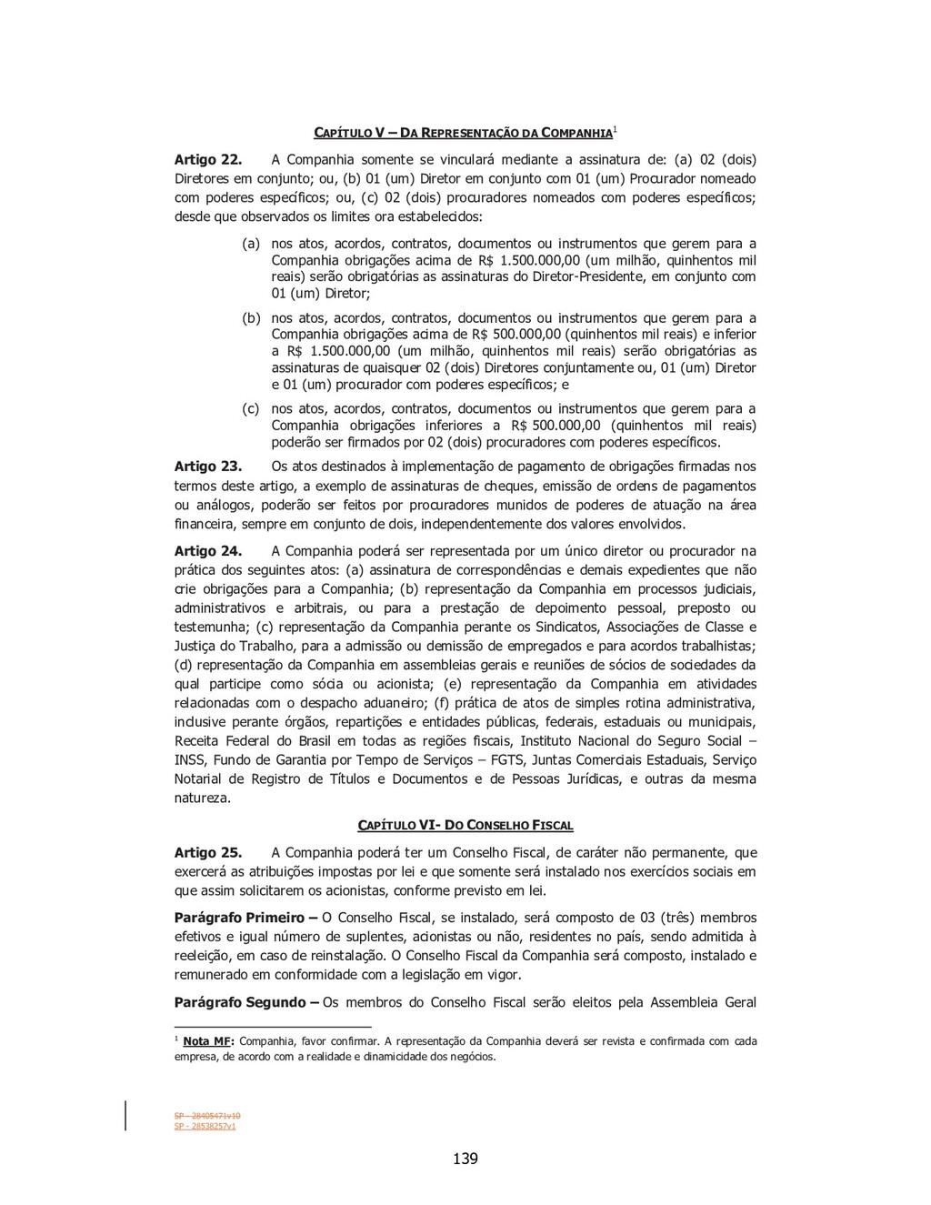 SP - 28405471v10 SP - 28538257v1 CAPÍTULO V – D...