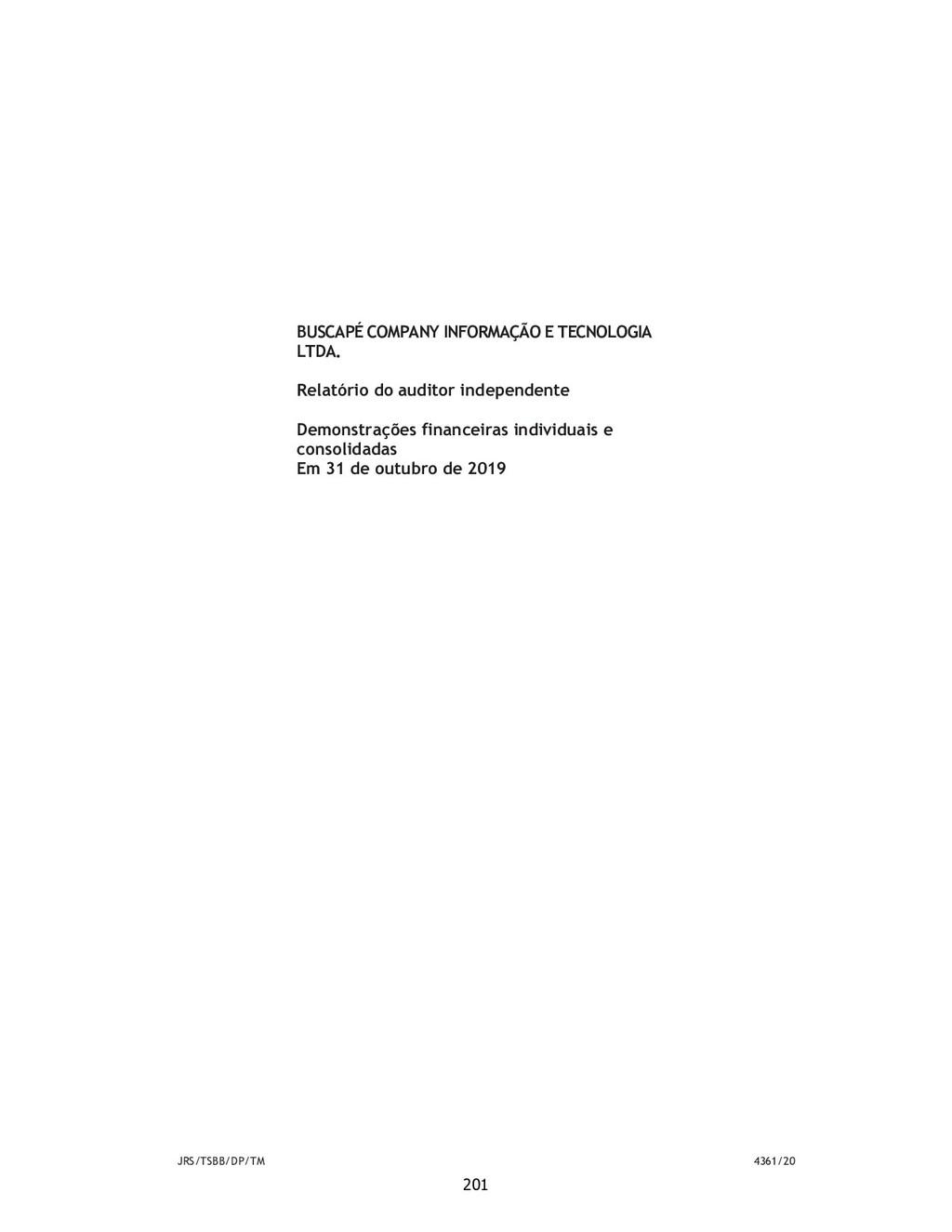 JRS/TSBB/DP/TM 4361/20 BUSCAPÉ COMPANY INFORMAÇ...