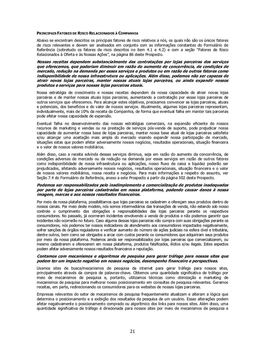 21 PRINCIPAIS FATORES DE RISCO RELACIONADOS À C...