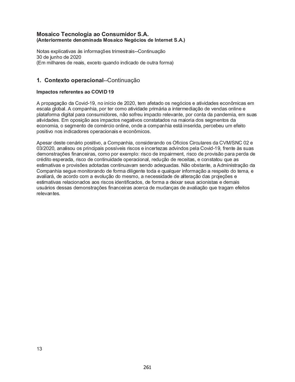 Mosaico Tecnologia ao Consumidor S.A. (Anterior...