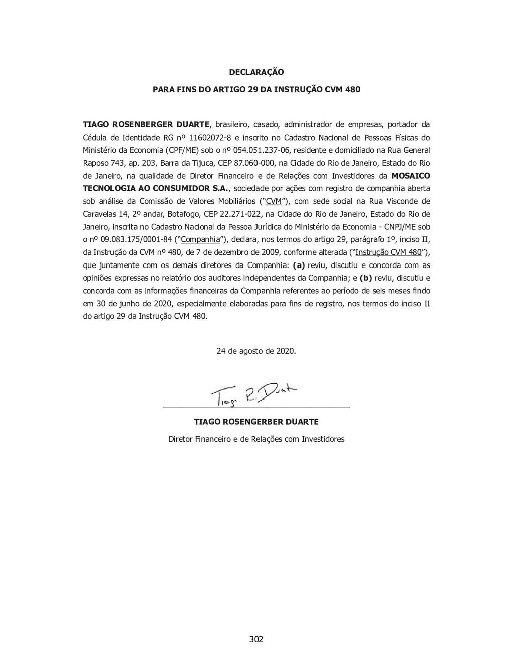 SP - 28518860v1 DECLARAÇÃO PARA FINS DO ARTIGO ...