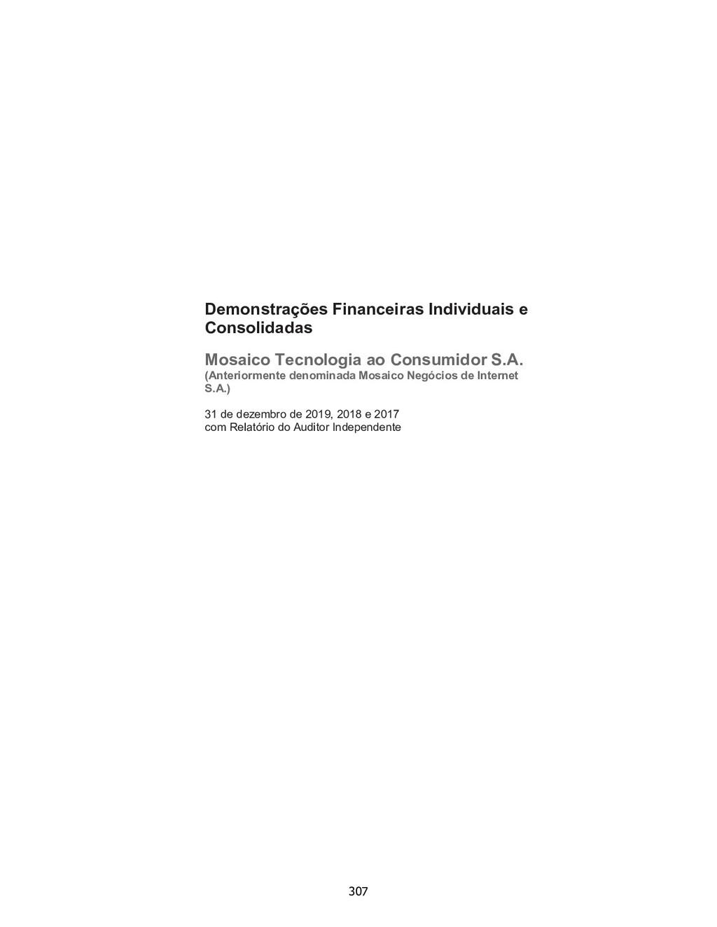 Demonstrações Financeiras Individuais e Consoli...