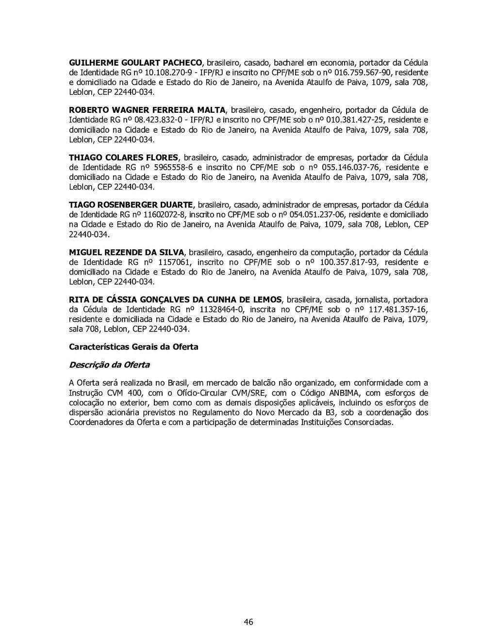46 GUILHERME GOULART PACHECO, brasileiro, casad...