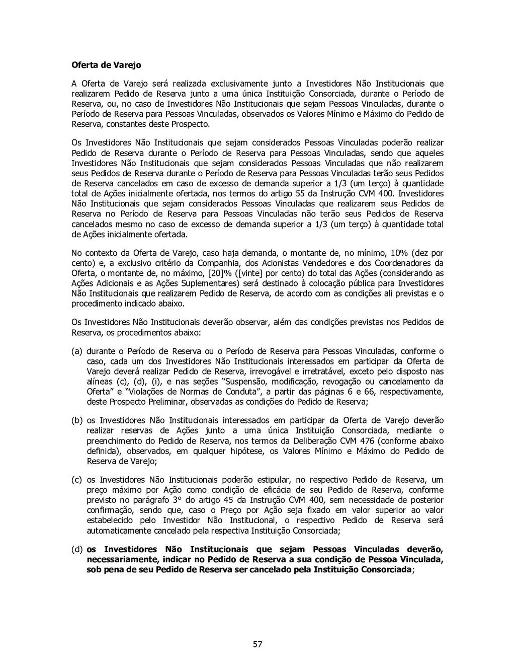 57 Oferta de Varejo A Oferta de Varejo será rea...