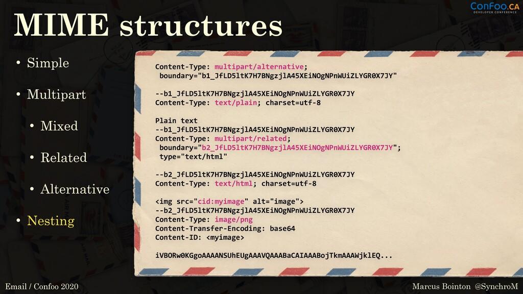 Marcus Bointon @SynchroM Email / Confoo 2020 MI...