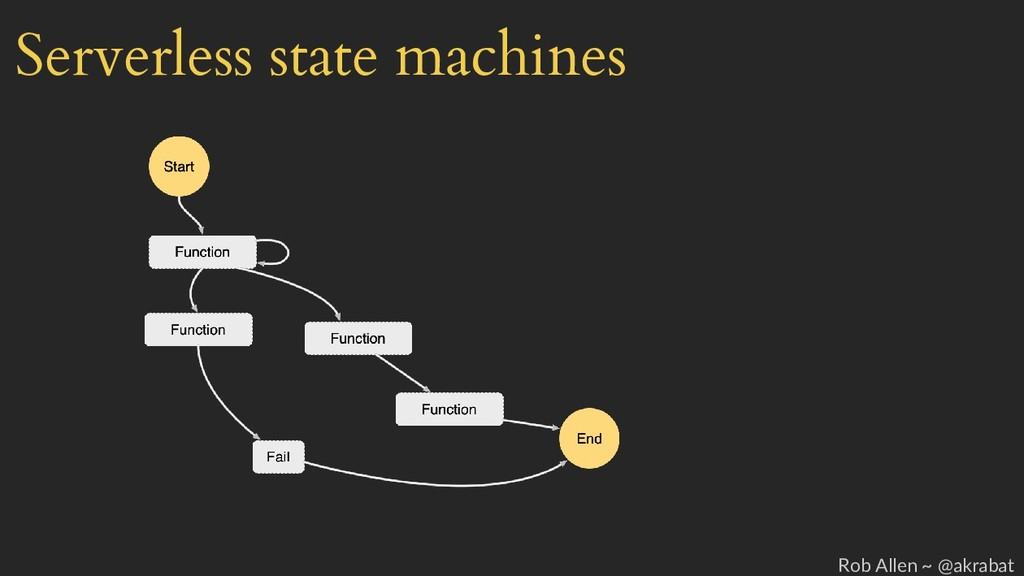Serverless state machines Rob Allen ~ @akrabat