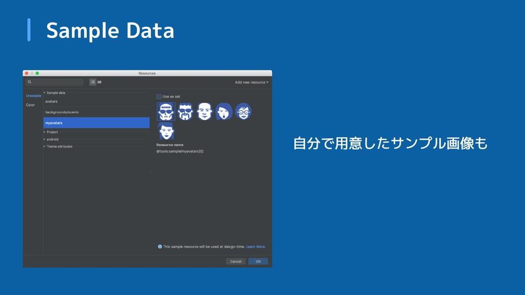 Sample Data 自分で用意したサンプル画像も