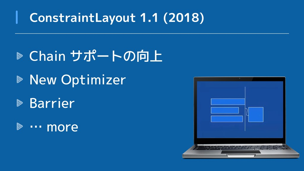 Chain サポートの向上 New Optimizer Barrier … more Cons...