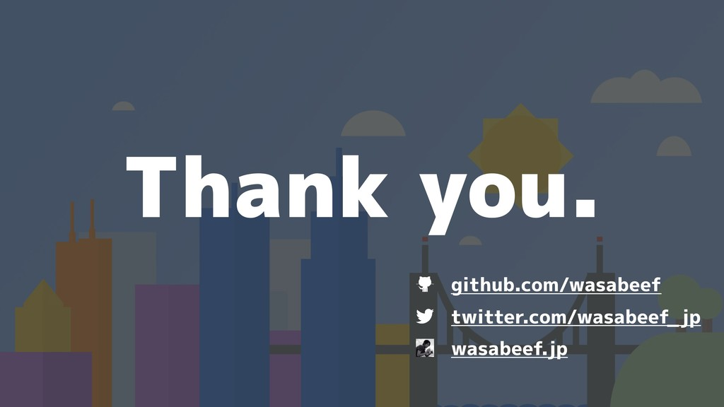 Thank you. twitter.com/wasabeef_jp wasabeef.jp ...