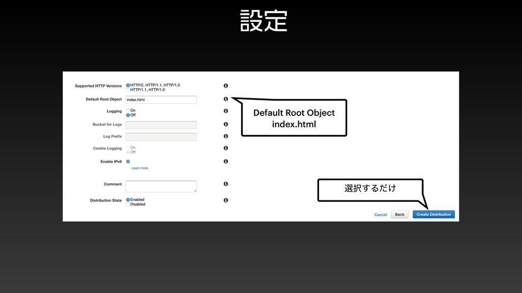 ઃఆ બ͢Δ͚ͩ Default Root Object index.html