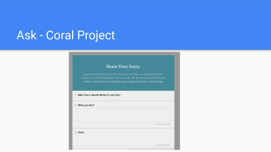 Ask - Coral Project