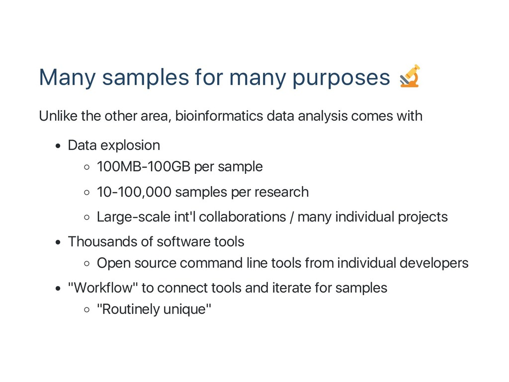 Many samples for many purposes Unlike the other...