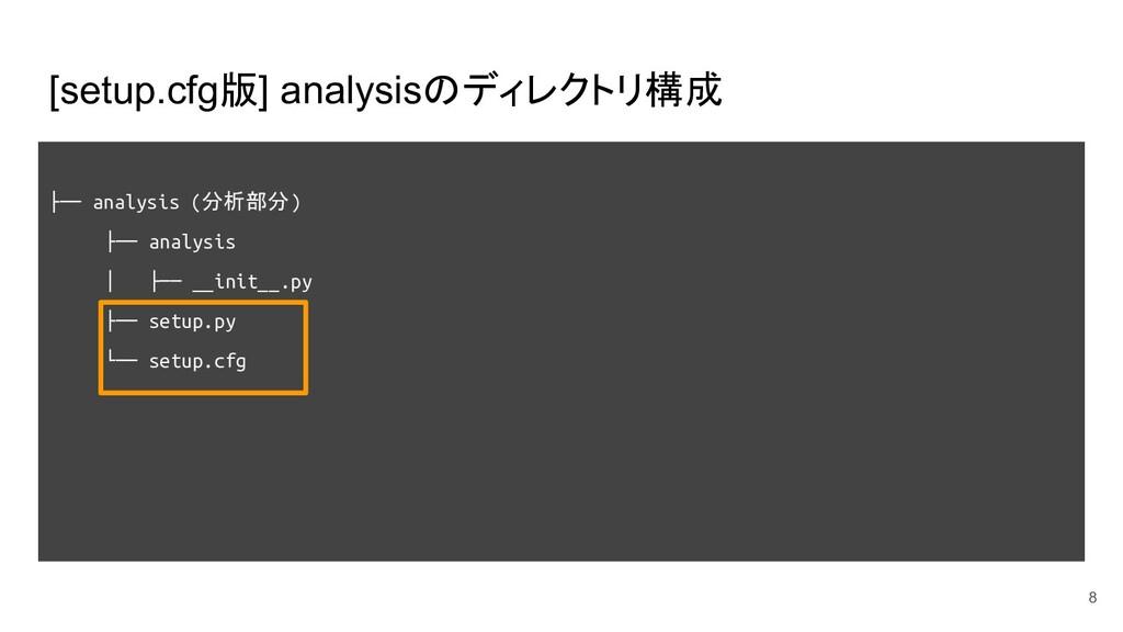 [setup.cfg版] analysisのディレクトリ構成 ├── analysis (分析...