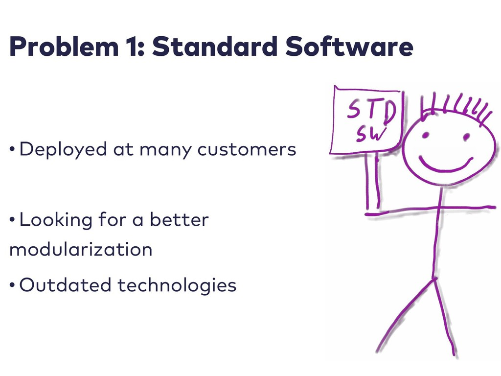 Problem 1: Standard Software • Deployed at many...