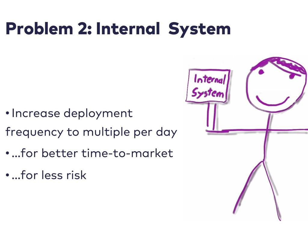 Problem 2: Internal System • Increase deploymen...