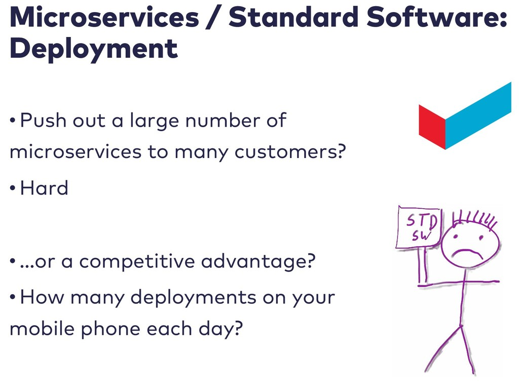 Microservices / Standard Software: Deployment •...