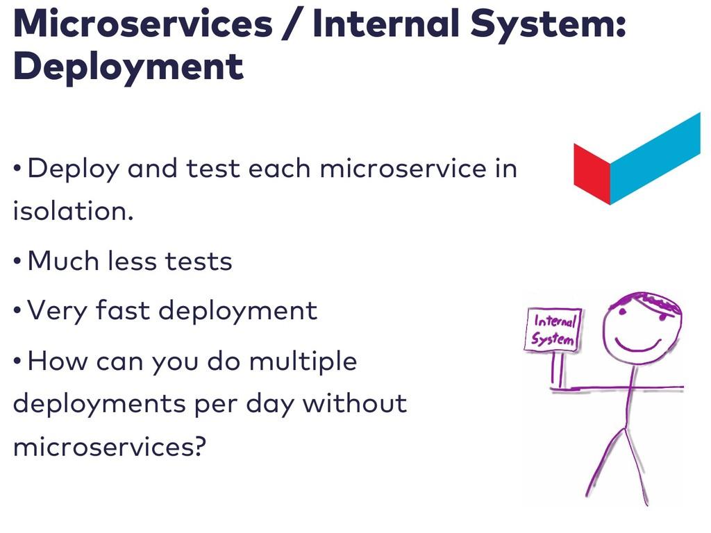 Microservices / Internal System: Deployment • D...
