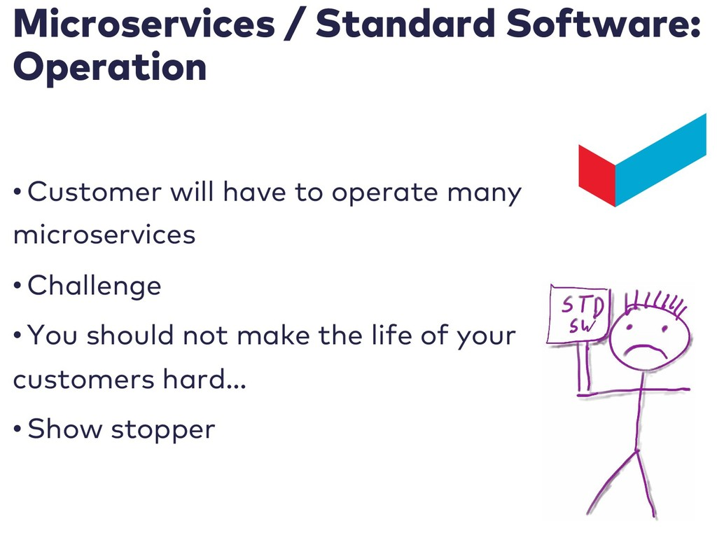 Microservices / Standard Software: Operation • ...