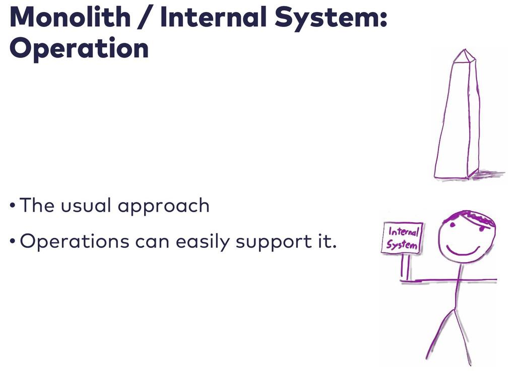 Monolith / Internal System: Operation • The usu...