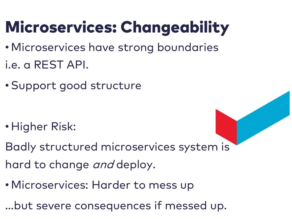 Microservices: Changeability • Microservices ha...