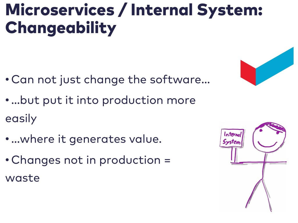 Microservices / Internal System: Changeability ...