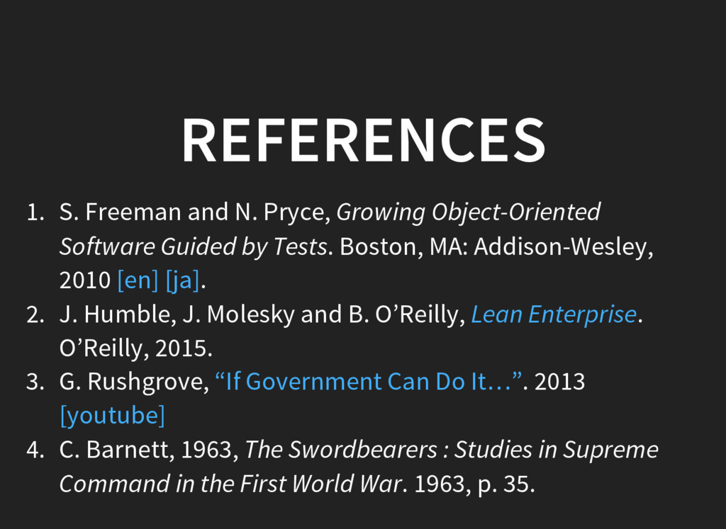 REFERENCES 1. S. Freeman and N. Pryce, Growing ...