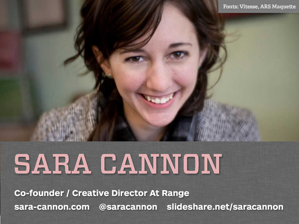 SARA CANNON Co-founder / Creative Director At R...