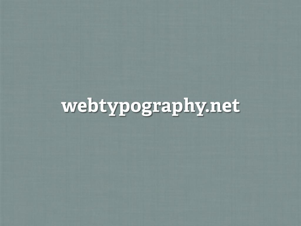 webtypography.net