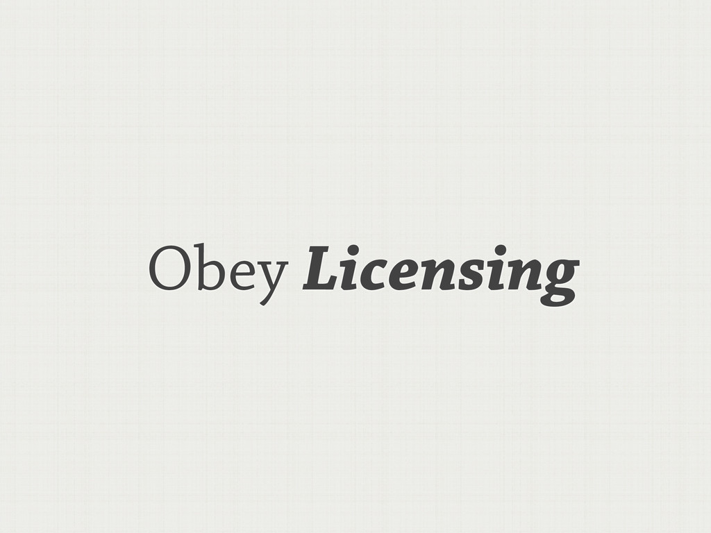 Obey Licensing