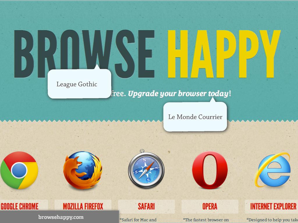 League Gothic Le Monde Courrier browsehappy.com