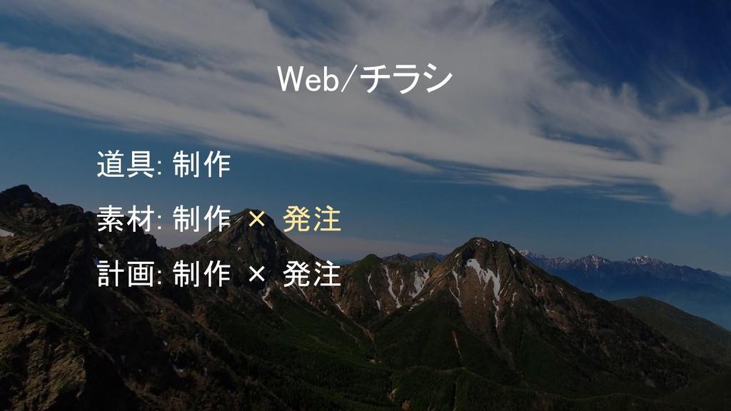 Web/チラシ 道具: 制作 素材: 制作 × 発注 計画: 制作 × 発注