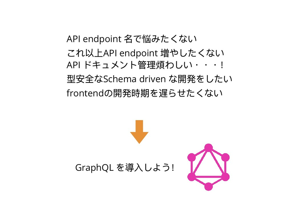 API endpoint 名で悩みたくない これ以上API endpoint 増やしたくない ...