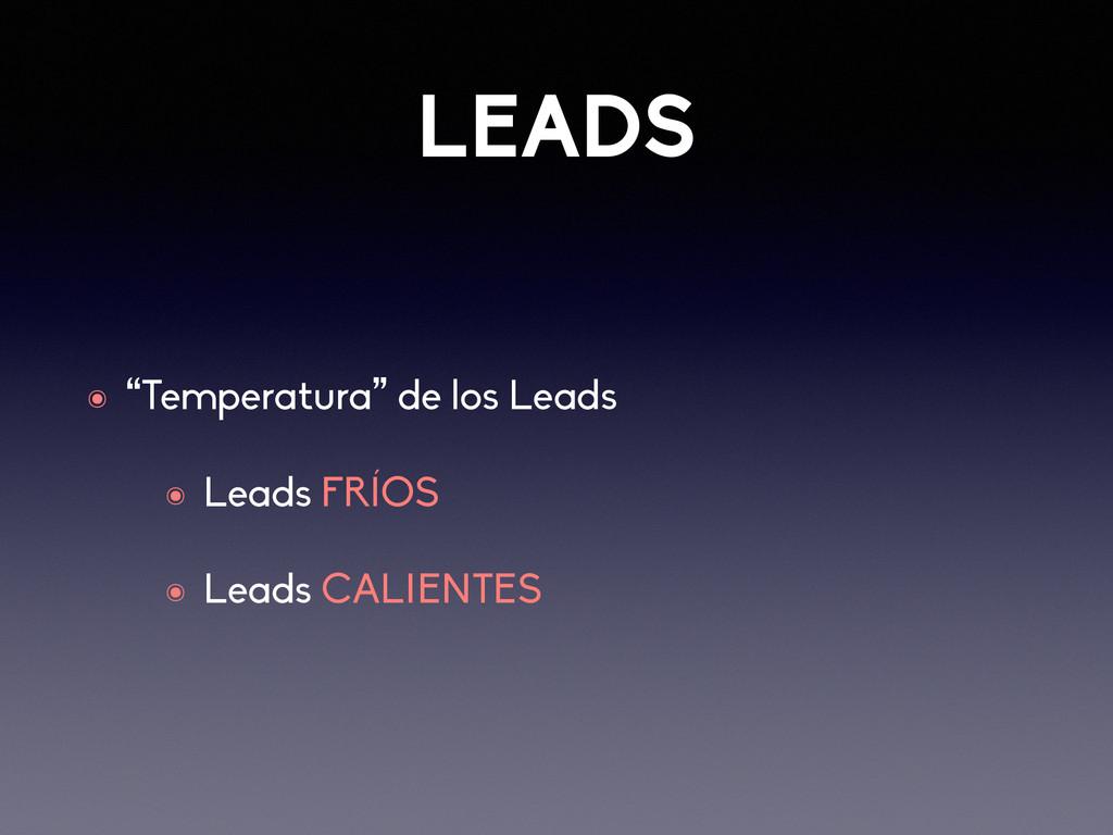 """LEADS ๏ """"Temperatura"""" de los Leads ๏ Leads FRÍO..."""