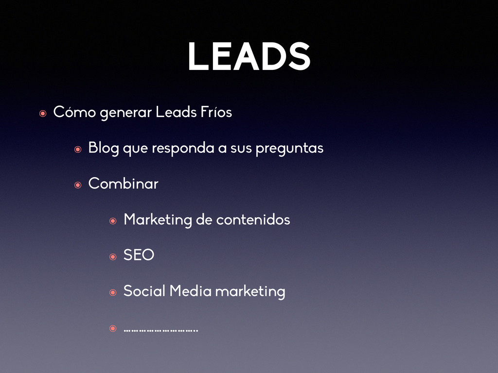 LEADS ๏ Cómo generar Leads Fríos ๏ Blog que res...