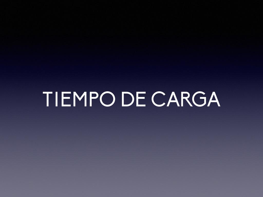 TIEMPO DE CARGA