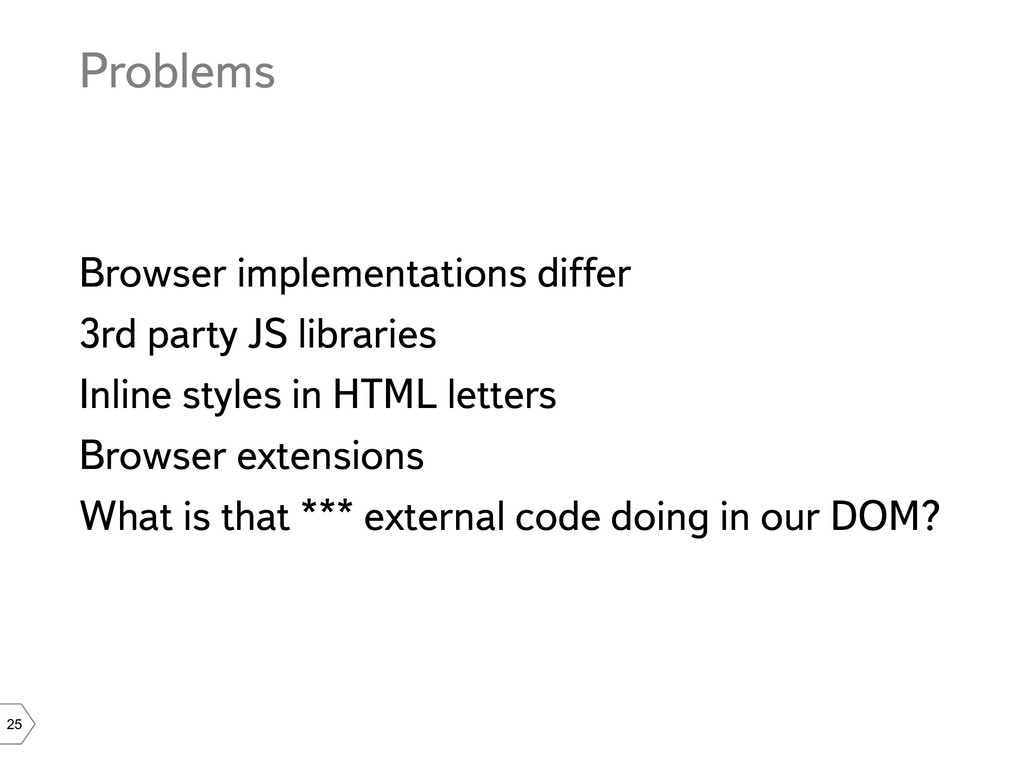 25 Problems Browser implementations differ 3rd ...