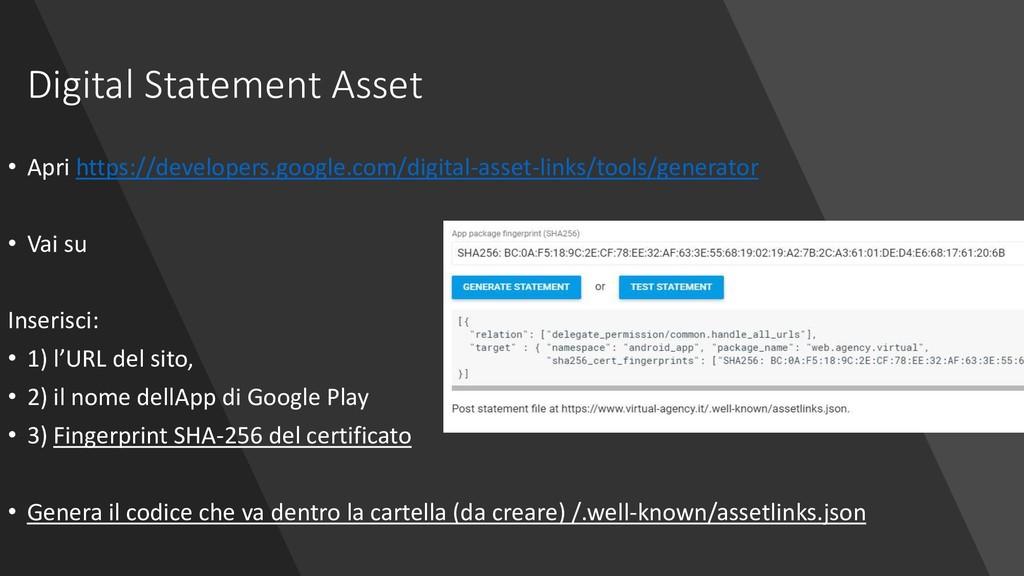 Digital Statement Asset • Apri https://develope...