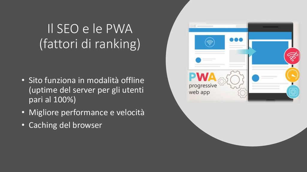 Il SEO e le PWA (fattori di ranking) • Sito fun...