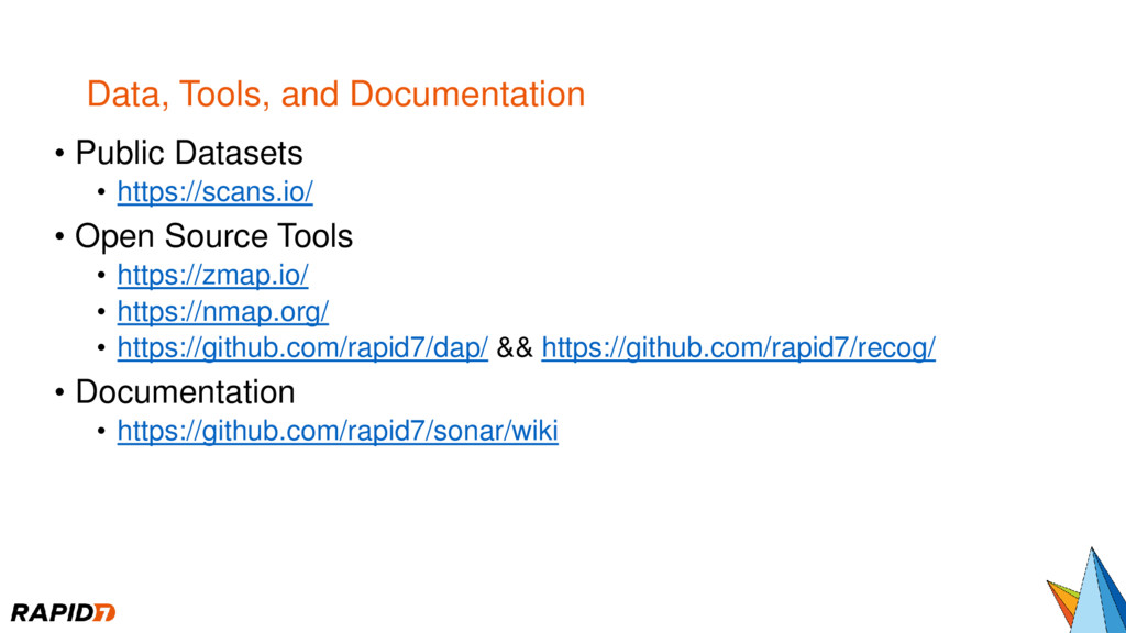Data, Tools, and Documentation • Public Dataset...