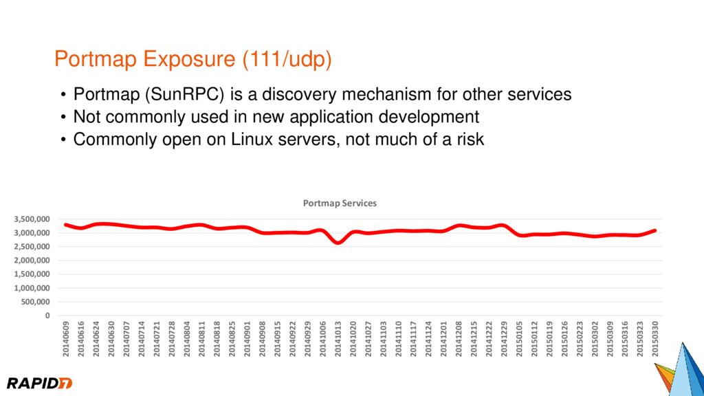 Portmap Exposure (111/udp) • Portmap (SunRPC) i...