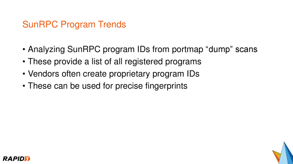 SunRPC Program Trends • Analyzing SunRPC progra...