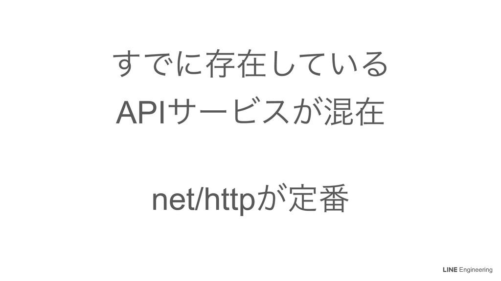 Engineering ͢Ͱʹଘࡏ͍ͯ͠Δ APIαʔϏε͕ࠞࡏ net/http͕ఆ൪
