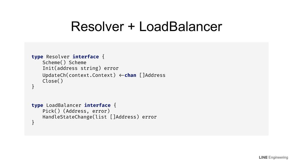 Engineering type Resolver interface { Scheme() ...