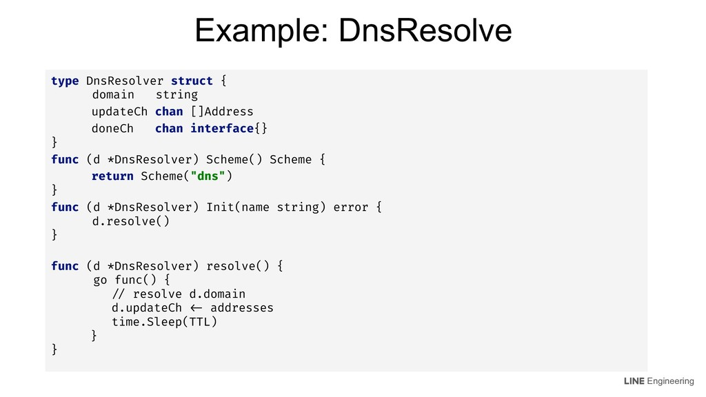 Engineering type DnsResolver struct { domain st...