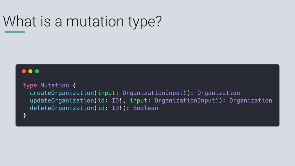 What is a mutation type?