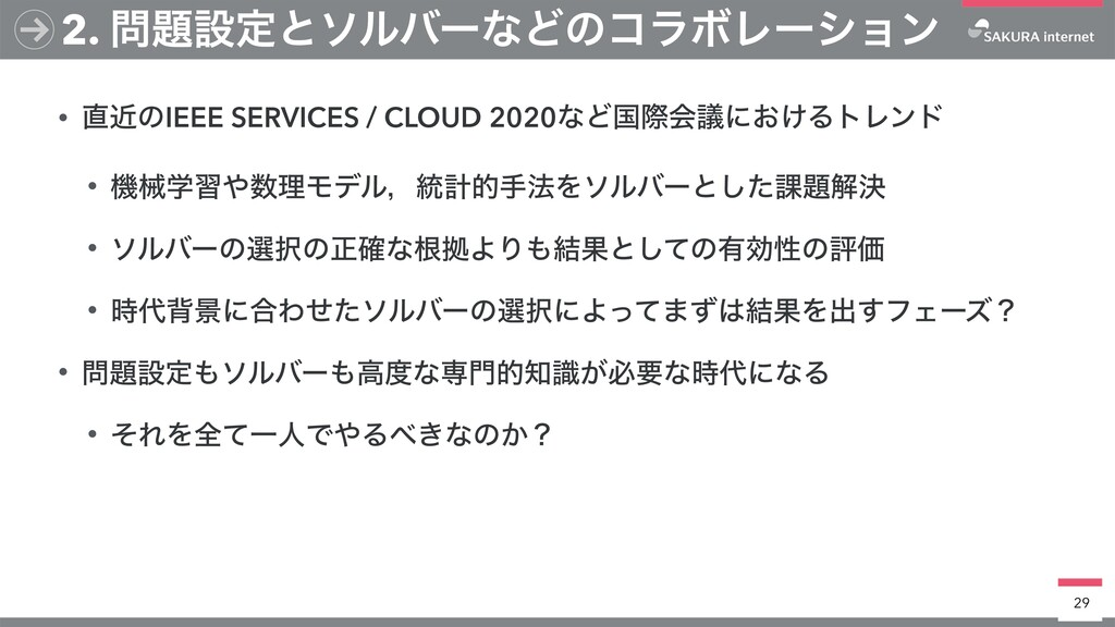 • ௚ۙͷIEEE SERVICES / CLOUD 2020ͳͲࠃࡍձٞʹ͓͚ΔτϨϯυ •...