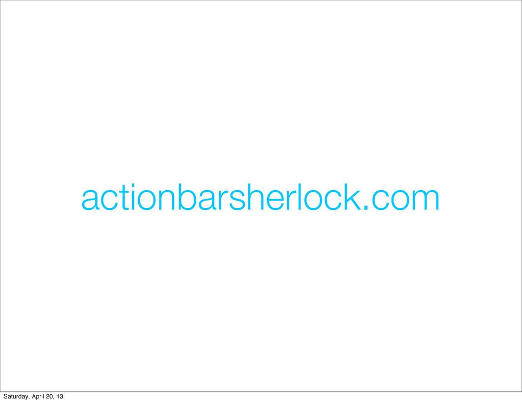 actionbarsherlock.com Saturday, April 20, 13