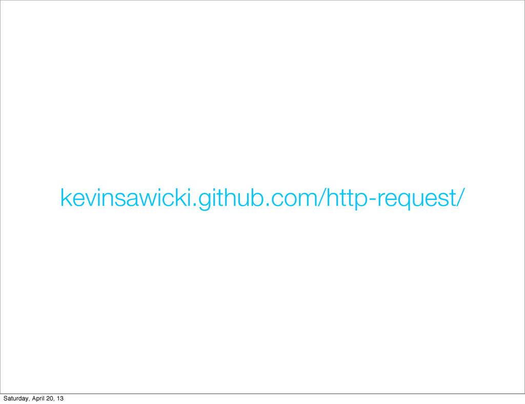 kevinsawicki.github.com/http-request/ Saturday,...