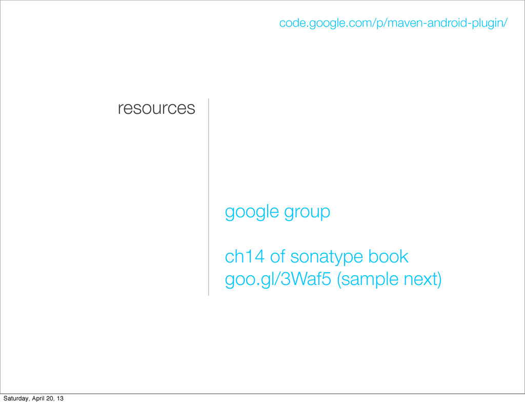 resources google group ch14 of sonatype book go...