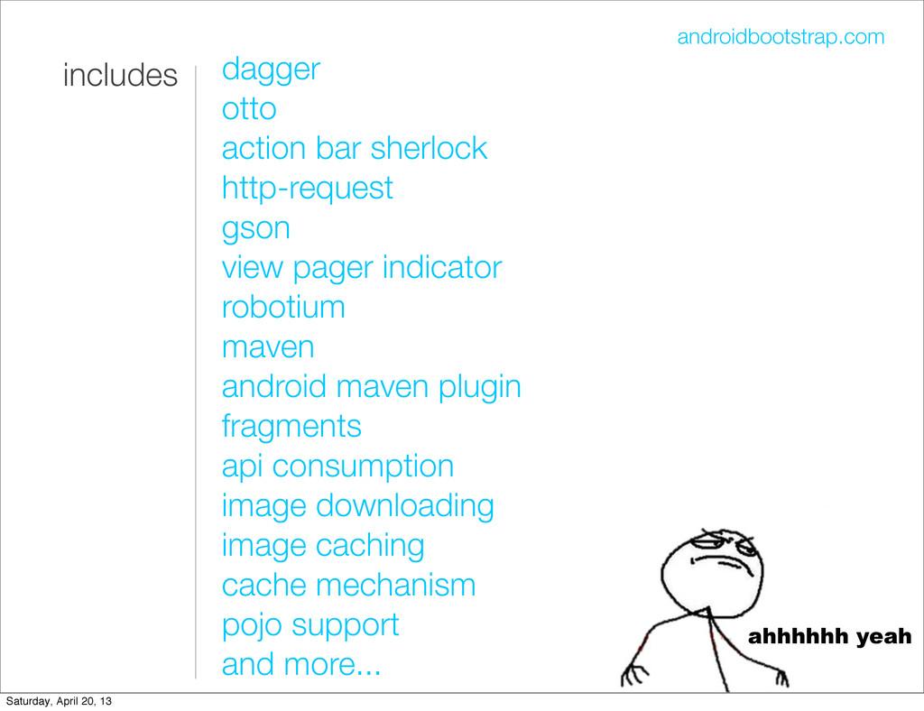 androidbootstrap.com includes dagger otto actio...